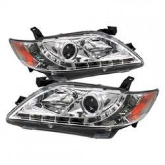 Projector Headlights - DRL - Chrome - High H1 - Low H7