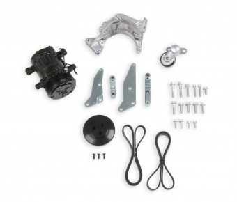 Holley COMP LO PASS A/C BKT KIT, LS, W/SD7-BLAC
