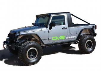 Jeep JK Truck Conversion 07-18 Wrangler JK Black DV8 Offroad