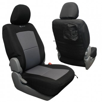 Toyota Tacoma Seat Covers 09-15 Tacoma Front Black/Black Tactical Series Pair Bartact