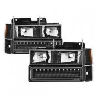 Corner/LED Bumper Headlights - Black