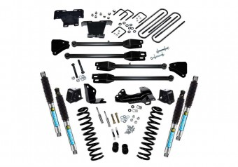 4 Lift Kit - 05-07 F250/F350 4WD Diesel w 4-Link Conversion & Bilstein Shocks