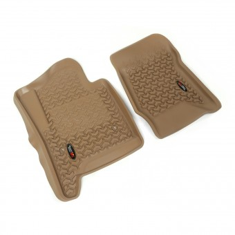Floor Liners, Front, Tan; 14-16 GM SUV/1500/2500/3500 Pickup