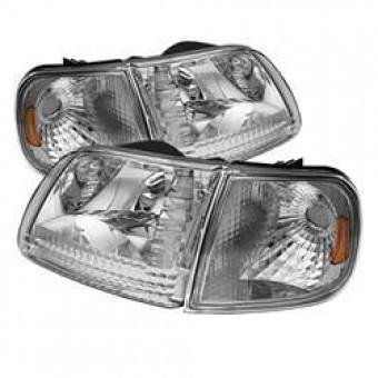 Crystal Headlights with Corner - Chrome