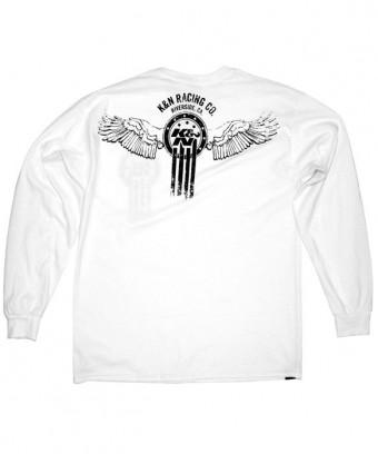 T-Shirt; K&N Dream Catcher, Long Sleeve, White - S