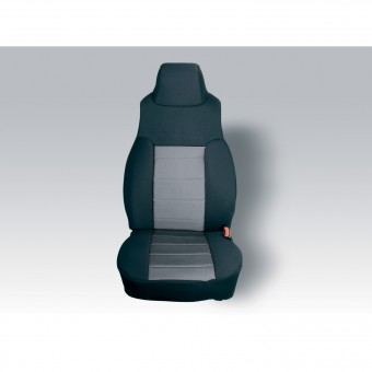 Neoprene Front Seat Covers, Gray; 03-06 Jeep Wrangler TJ