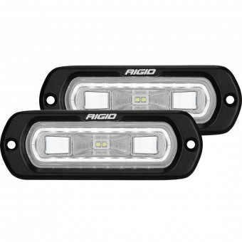 SR-L SERIES OFF-ROAD SPREADER POD 3 WIRE FLUSH MOUNT WITH WHITE HALO; PAIR