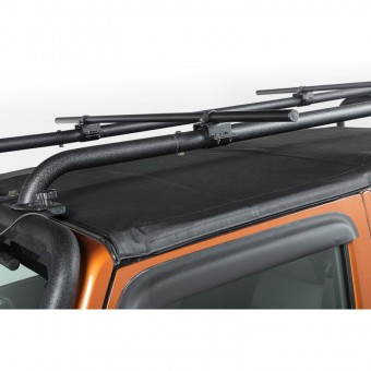Sherpa Roof Rack Crossbars, Round, 56.5-Inches; 07-16 Jeep Wrangler JK