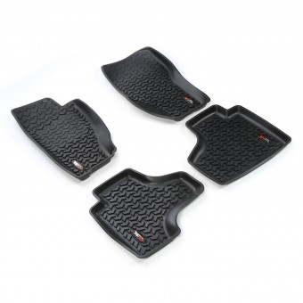 Floor Liners, Kit, Black; 08-13 Jeep Liberty KK