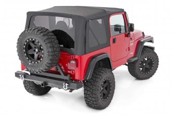 Jeep Wrangler YJ Replacement Soft Top | Black (87-95 - Half Steel Doors)
