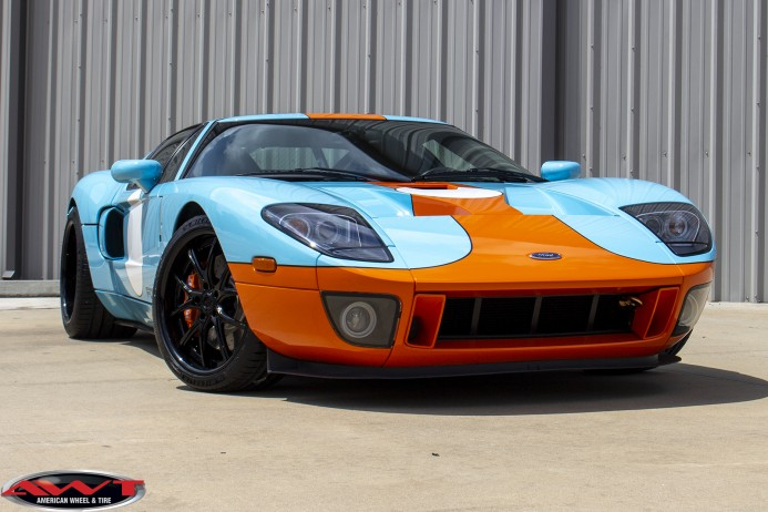 2006 Ford GT Heritage Edition staggered 19x9.5 20x13 Lexani Forged LF-102 wheels Michelin Pilot Sport tires