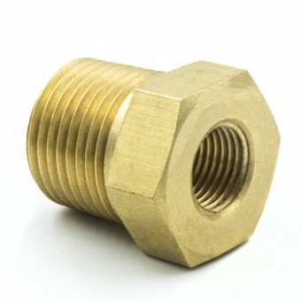 "FITTING, ADAPTER, 3/8"" NPT MALE, 1/8"" NPT FEMALE, BRASS"