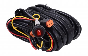 Wiring Harness for Two Backup Lights with 2-Pin Deutsch Connectors - KC #63091