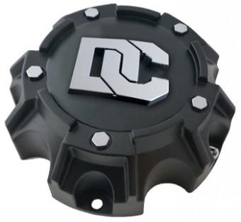 DC Blackout/DC Matrix Center Caps 5X4.50 Bolt On Closed Flat Black Dick Cepek