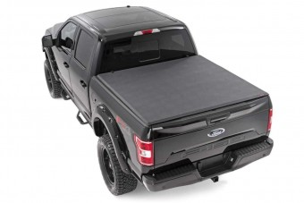 Rough Country Soft Tri-Fold Tonneau Bed Cover (6.5-foot Bed w/o Cargo Management System)