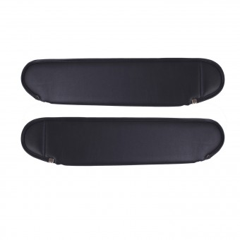 Replacement Sun Visors, Charcoal; 87-95 Jeep Wrangler YJ