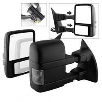Manual Extendable - POWER Heated Adjust Mirror with LED Signal Smoke