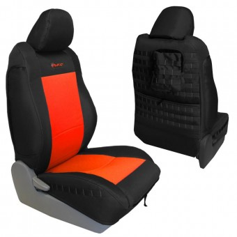 Toyota Tacoma Seat Covers 09-15 Tacoma TRD Front Black/Kahki Tactical Series Pair Bartact