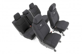 Toyota Neoprene Front & Rear Seat Covers (14-20 Tundra, Crew Cab)