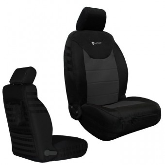 Jeep JK Seat Covers Front 13-17 Wrangler JK/JKU Tactical Series Black/Graphite Bartact