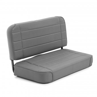 Smittybilt SEAT - REAR - STANDARD - DENIM GRAY JEEP, 55-95 CJ & WRANGLER (YJ) 8011N