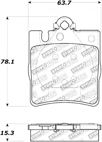StopTech Street Brake Pads; Rear with Shims