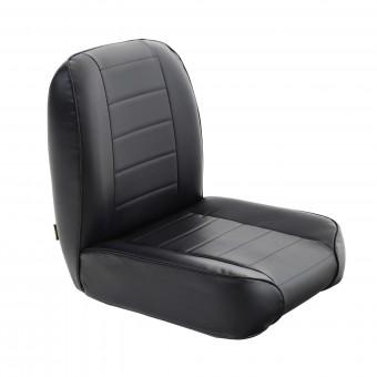 Smittybilt SEAT - FRONT - LOW BACK BUCKET - VINYL BLACK JEEP, 55-76 CJ 44801