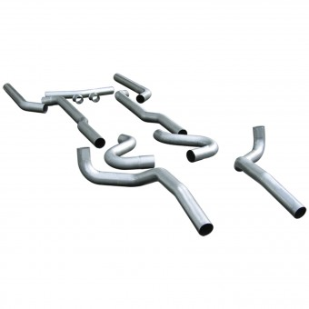 Header-back System - 3.00 in. Dual Rear Exit - Pipes Only No Mufflers