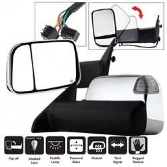 Manual Extendable - POWER Heated Adjust Mirror with LED Signal.