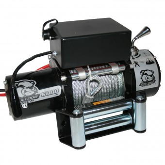 6000lb Winch with Roller Fairlead