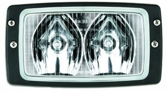 Module 6213 Halogen Double Beam Flush Mount Work Lamp (LR)