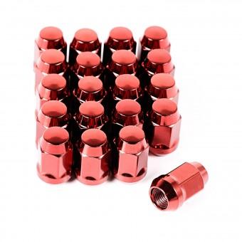 Wheel Lug Nut, Set of 20, Red, 1/2-20