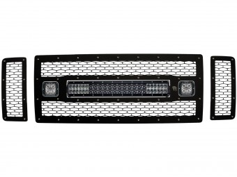 """Ford F-250/F-350 - 2008-2010 Non-FX4 Grille Kit-  20"""" E-Series 2xDually"""