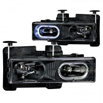 Crystal Headlight Set w/Halo