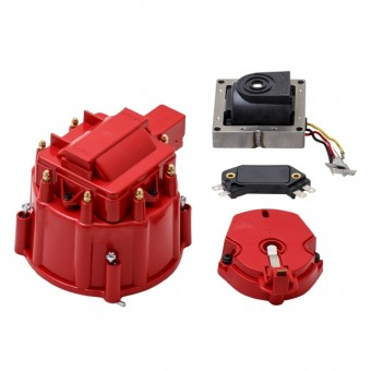 HEI Distributor Standard Cap Tune Up Kit - 8 Cylinder Male, Red