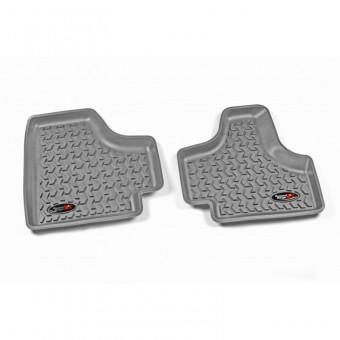 Floor Liners, Rear, Gray; 08-12 Jeep Liberty KK