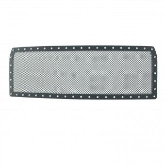 Evolution Stainless Steel Wire Mesh Cutout Grille Black