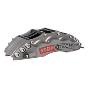 StopTech Trophy Sport Big Brake Kit; Silver Caliper, Slotted 2-Pc. Rotor, Front