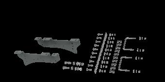 RVR2400 CUSTOM INSTALLATION KIT FOR UNIVERSAL MOUNTING RAILS FOR SOME FORD TRUCKS