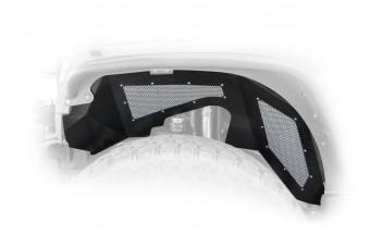 Jeep JK Inner Fender Front Aluminum Black 1 Piece 07-17 Wrangler JK 2/4 Door DV8 Offroad