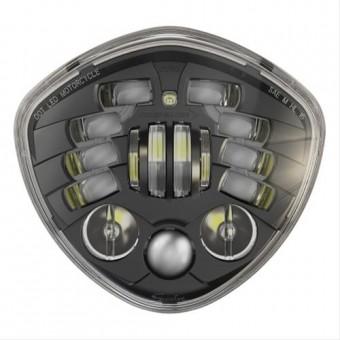 8695 Adaptive - Bucket Mount Motorcycle Headlight with Black Bezel