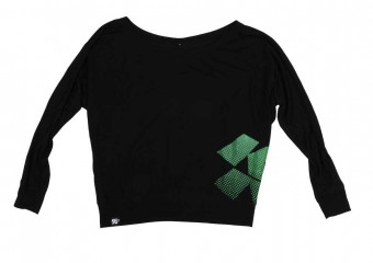 K&N 88-9003-M Shirt; Faded Off The Shoulder, Black