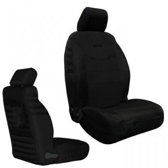 Jeep JK Seat Covers Front 13-17 Wrangler JK/JKU Tactical Series Black/Black Bartact