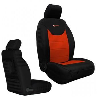 Jeep JK Seat Covers Front 13-17 Wrangler JK/JKU Tactical Series Black/Orange Bartact