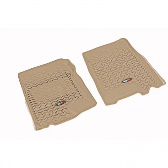 Floor Liners, Front, Tan; 97-03 Expedition/F-150/Navigator/Blackwood
