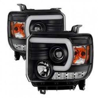 Projector Headlights - Light Bar DRL - Black