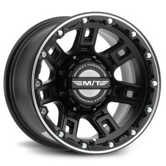 Sidebiter Lock 20X9 with 5X150 Bolt Pattern 5.750 Back Space Matte Black Mickey Thompson