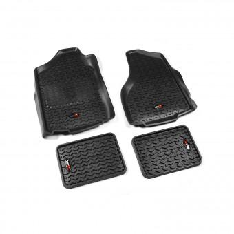 Floor Liners, Kit, Black; 02-11 Dodge Ram 1500/2500/3500 Quad