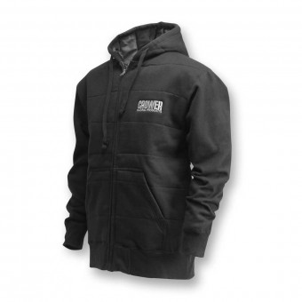 JACKET, MONSTER ZIP (EXTRA LARGE) BLACK WITH CROWER LOGO & SHERPA LINING