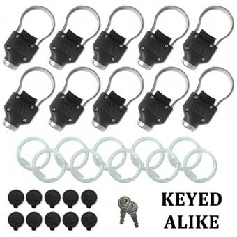 Universal Tailgate Collar Lock - Keyed Alike 10 Pack